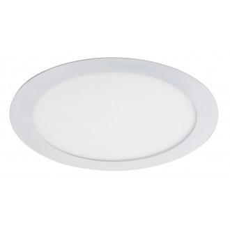RABALUX 5571 | Lois Rabalux beépíthető LED panel kerek Ø225mm 225x225mm 1x LED 1400lm 4000K matt fehér, fehér