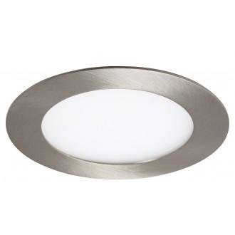 RABALUX 5573 | Lois Rabalux beépíthető LED panel kerek Ø120mm 120x120mm 1x LED 350lm 3000K szatén króm, fehér