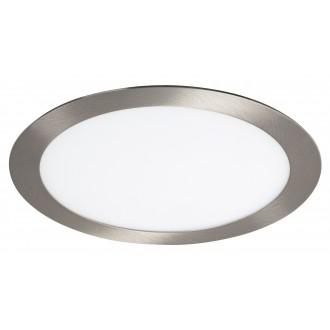 RABALUX 5575 | Lois Rabalux beépíthető LED panel kerek Ø225mm 225x225mm 1x LED 1400lm 3000K szatén króm, fehér
