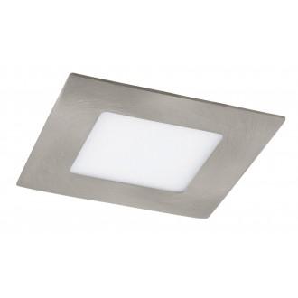 RABALUX 5580 | Lois Rabalux beépíthető LED panel négyzet 90x90mm 1x LED 170lm 3000K szatén króm, fehér
