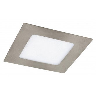 RABALUX 5581 | Lois Rabalux beépíthető LED panel négyzet 120x120mm 1x LED 350lm 3000K szatén króm, fehér