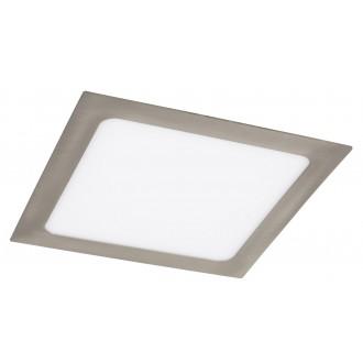 RABALUX 5583 | Lois Rabalux beépíthető LED panel négyzet 220x220mm 1x LED 1400lm 3000K szatén króm, fehér