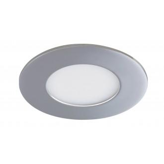 RABALUX 5584 | Lois Rabalux beépíthető LED panel kerek Ø90mm 90x90mm 1x LED 170lm 4000K IP44 króm, fehér