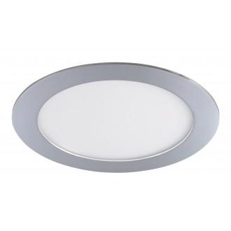 RABALUX 5585 | Lois Rabalux beépíthető LED panel kerek Ø170mm 170x170mm 1x LED 800lm 4000K IP44 króm, fehér