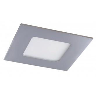 RABALUX 5586 | Lois Rabalux beépíthető LED panel négyzet 90x90mm 1x LED 170lm 4000K IP44 króm, fehér