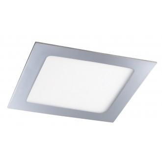 RABALUX 5587 | Lois Rabalux beépíthető LED panel négyzet 170x170mm 1x LED 800lm 4000K IP44 króm, fehér