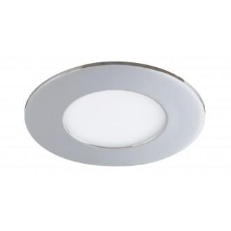 RABALUX 5588 | Lois Rabalux beépíthető LED panel kerek Ø90mm 90x90mm 1x LED 170lm 3000K IP44 króm, fehér