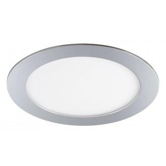 RABALUX 5589 | Lois Rabalux beépíthető LED panel kerek Ø170mm 170x170mm 1x LED 800lm 3000K IP44 króm, fehér