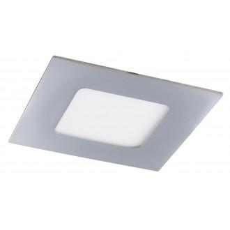 RABALUX 5590 | Lois Rabalux beépíthető LED panel négyzet 90x90mm 1x LED 170lm 3000K IP44 króm, fehér