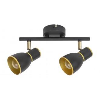 RABALUX 5606 | Mackenzie Rabalux spot lámpa elforgatható alkatrészek 2x E14 fekete, arany
