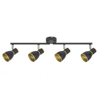RABALUX 5608 | Mackenzie Rabalux spot lámpa elforgatható alkatrészek 4x E14 fekete, arany