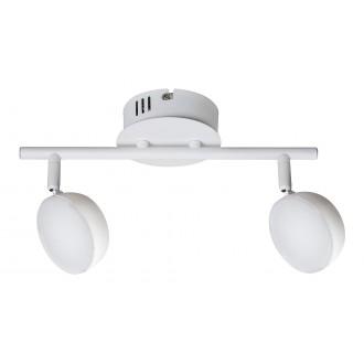 RABALUX 5623 | Hedwig Rabalux spot lámpa távirányító szabályozható fényerő, állítható színhőmérséklet, elforgatható alkatrészek 2x LED 700lm 2700 <-> 5000K matt fehér