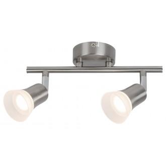 RABALUX 5627 | Riley-RA Rabalux spot lámpa elforgatható alkatrészek 2x LED 700lm 3000K szatén króm, opál