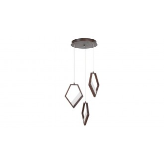 RABALUX 5643 | Silvana Rabalux függeszték lámpa 1x LED 3600lm 3000K metál barna