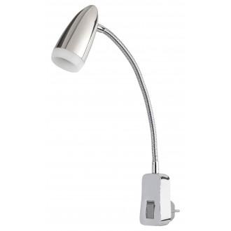 RABALUX 5658 | Alma-RA Rabalux konnektorlámpa lámpa kapcsoló flexibilis 1x LED 350lm 3000K króm, fehér