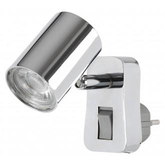 RABALUX 5659 | Cara-RA Rabalux konnektorlámpa lámpa kapcsoló elforgatható alkatrészek 1x LED 350lm 3000K króm