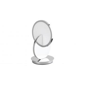 RABALUX 5669 | Assana Rabalux asztali lámpa 28cm vezeték kapcsoló 1x LED 380lm 3000K króm, opál