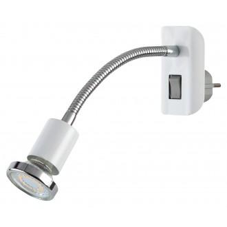 RABALUX 5673 | Dobra Rabalux konnektorlámpa lámpa kapcsoló flexibilis 1x GU10 340lm 3000K króm, fehér