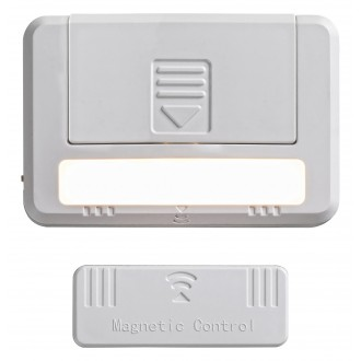 RABALUX 5675 | Magnus-RA Rabalux bútormegvilágító lámpa kapcsoló 2 darabos szett, mágnes, elemes/akkus 1x LED 35lm 3000K fehér