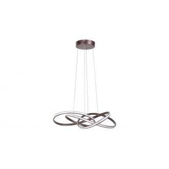 RABALUX 5692 | Ambrosio Rabalux függeszték lámpa 1x LED 2700lm 3000K barna