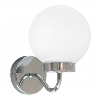 RABALUX 5827 | Togo Rabalux falikar lámpa 1x E14 IP44 króm, fehér