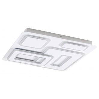 RABALUX 5859 | Montelle Rabalux mennyezeti lámpa négyzet távirányító szabályozható fényerő, állítható színhőmérséklet 1x LED 2393lm 2700 <-> 5500K matt fehér