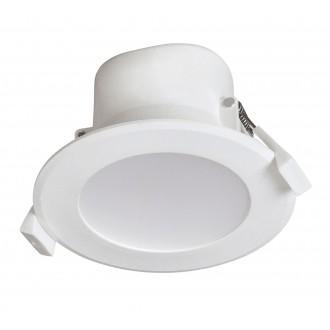 RABALUX 5898 | Christopher Rabalux beépíthető lámpa Ø95mm 95x95mm 1x LED 650lm 4000K IP44/20 fehér