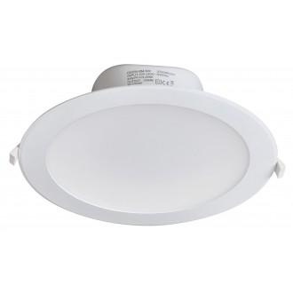 RABALUX 5901 | Christopher Rabalux beépíthető lámpa Ø244mm 244x244mm 1x LED 2450lm 4000K IP44/20 fehér