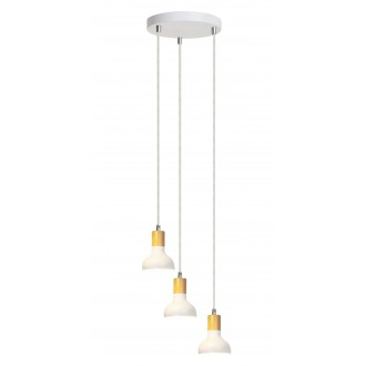 RABALUX 5949   Holly-RA Rabalux függeszték lámpa 3x E14 fehér, bükk