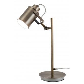RABALUX 5986 | Peter Rabalux asztali lámpa 44,5cm vezeték kapcsoló elforgatható alkatrészek 1x E27 antikolt bronz