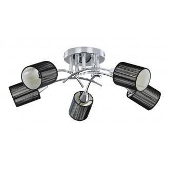 RABALUX 6002 | Veda Rabalux mennyezeti lámpa 5x E14 króm, fekete, fehér
