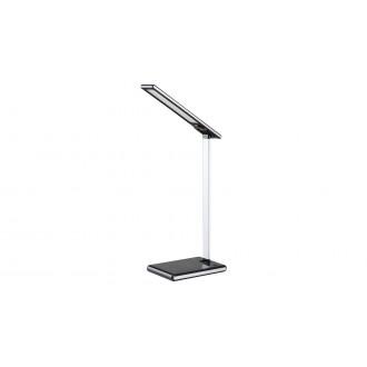 RABALUX 6019   Sheldon-RA Rabalux asztali lámpa 43cm fényerőszabályzós érintőkapcsoló szabályozható fényerő, állítható színhőmérséklet, USB csatlakozó, telefon töltő, mobil töltő, elforgatható alkatrészek 1x LED 220lm 2700 <-> 6500K fekete, ezüst