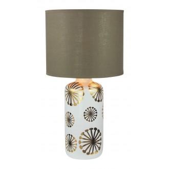 RABALUX 6030 | Ginger Rabalux asztali lámpa 49cm vezeték kapcsoló 1x E27 fehér, arany, barna