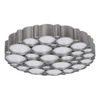 RABALUX 6039 | Andela Rabalux függeszték lámpa kerek impulzus kapcsoló szabályozható fényerő 1x LED 2956lm 4000K ezüst, fehér