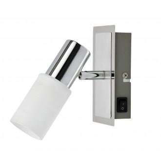 RABALUX 6096 | Logan Rabalux spot lámpa kapcsoló elforgatható fényforrás 1x E14 króm, fehér