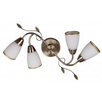 RABALUX 6145 | Dreambells Rabalux fali, mennyezeti lámpa 4x E14 bronz, fehér
