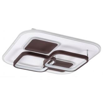 RABALUX 6250 | Delion Rabalux mennyezeti lámpa négyszögletes távirányító szabályozható fényerő, állítható színhőmérséklet 1x LED 3080lm 3000 <-> 6000K fehér, barna, fekete