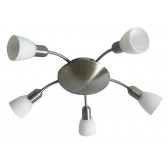 RABALUX 6305   Soma2 Rabalux spot lámpa 5x E14 szatén króm, fehér