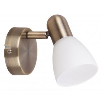 RABALUX 6306 | Soma2 Rabalux spot lámpa elforgatható alkatrészek 1x E14 bronz, fehér