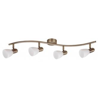 RABALUX 6309   Soma2 Rabalux spot lámpa elforgatható alkatrészek 4x E14 bronz, fehér