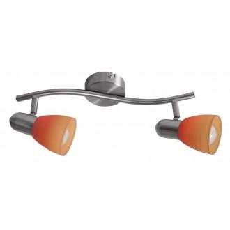 RABALUX 6312 | RainbowR Rabalux spot lámpa elforgatható alkatrészek 2x E14 matt króm, piros, narancs