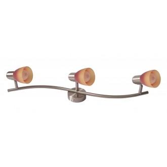 RABALUX 6313 | RainbowR Rabalux spot lámpa elforgatható alkatrészek 3x E14 matt króm, piros, narancs