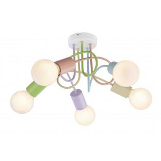 RABALUX 6340 | Linett Rabalux mennyezeti lámpa 5x E27 többszínű