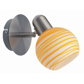 RABALUX 6345   Aurel Rabalux fali, mennyezeti lámpa elforgatható alkatrészek 1x E14 matt króm, fehér, narancs