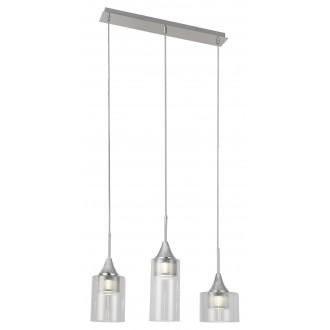 RABALUX 6350 | Candice Rabalux függeszték lámpa 1x LED 1200lm 4000K króm, átlátszó