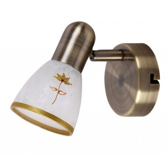 RABALUX 6356 | Art-Flower Rabalux spot lámpa elforgatható alkatrészek 1x E14 bronz, fehér, arany