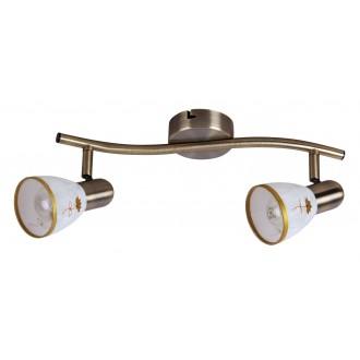 RABALUX 6357 | Art-Flower Rabalux spot lámpa elforgatható alkatrészek 2x E14 bronz, fehér, arany
