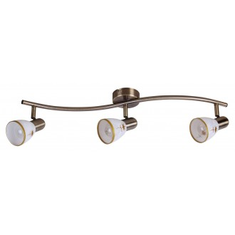 RABALUX 6358 | Art-Flower Rabalux spot lámpa elforgatható alkatrészek 3x E14 bronz, fehér, arany