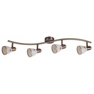 RABALUX 6359 | Art-Flower Rabalux spot lámpa elforgatható alkatrészek 4x E14 bronz, fehér, arany