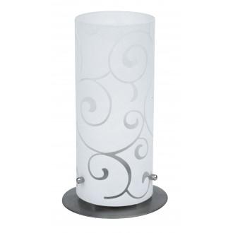 RABALUX 6393 | Harmony-lux1 Rabalux asztali lámpa 24,5cm vezeték kapcsoló 1x E27 szatén, króm, opál